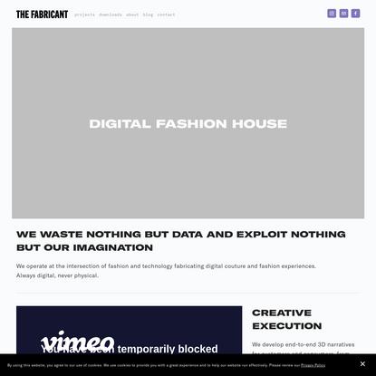 The Fabricant | A Digital Fashion House