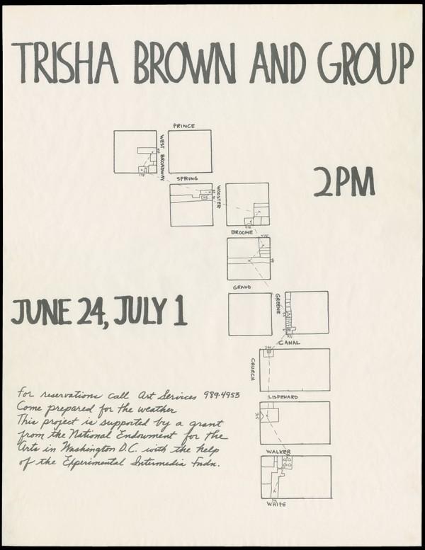 Trisha Brown, Roof Piece Poster