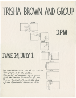 Trisha Brown, Roof Piece Poster