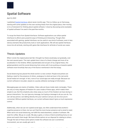 Spatial Software