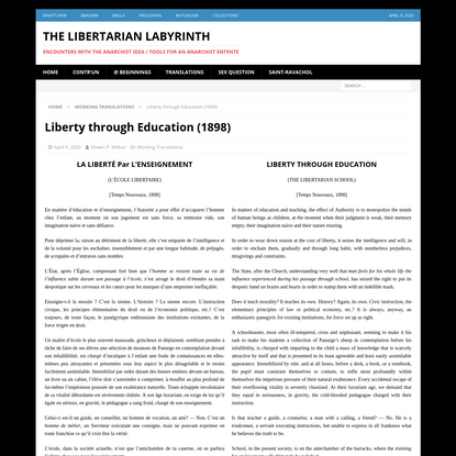 Liberty through Education (1898) - The Libertarian Labyrinth