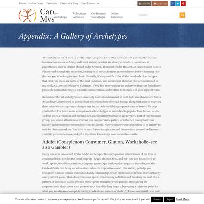 Appendix: A Gallery of Archetypes - Caroline Myss