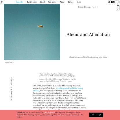 Aliens and Alienation   Erica X Eisen
