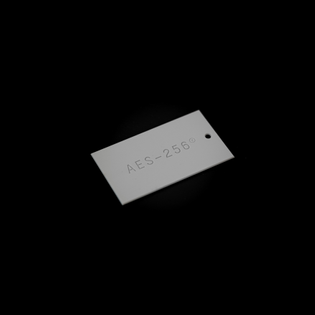 AES-256 hangtag
