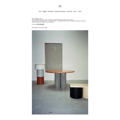 Ana Kraš - Slon Tables x Matter Made