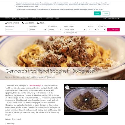Gennaro's Spaghetti Bolognese | Bolognese Recipe | Citalia