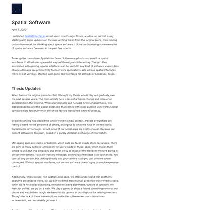 Spatial Software   Dark Blue Heaven
