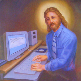 Jesus, computing, computer, internet, technology, religion, son of god, Christianity