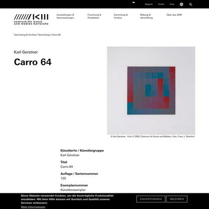 Karl Gerstner | Carro 64 | ZKM