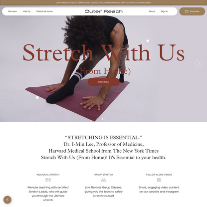 Outer Reach Stretch Studio Tribeca   1on1, Group Stretching Classes NYC