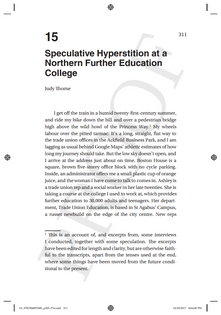 Speculative Hyperstition at a Northern Further Education College (2018) – Judy Thorne