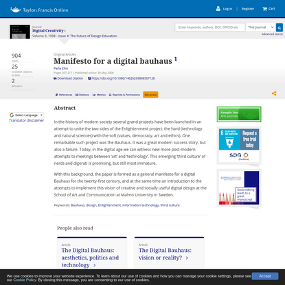 Manifesto for a digital bauhaus