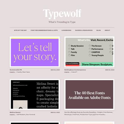 What's Trending in Type · Typewolf