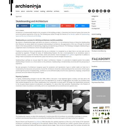 Skateboarding and Architecture | Archi-Ninja