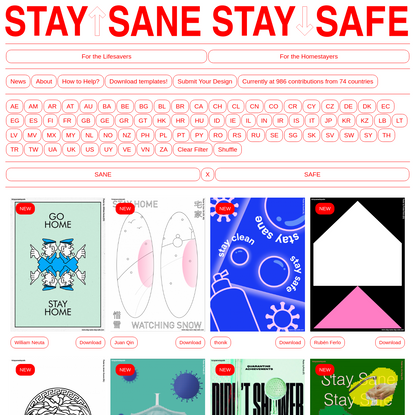 STAY SANE / STAY SAFE   Home