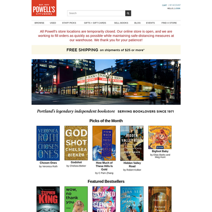 Powell's Books | The World's Largest Independent Bookstore