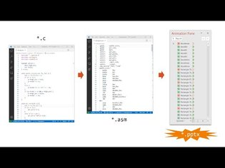Can we compile C code into PowerPoint?
