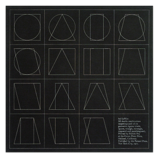 Sol LeWitt, All Double Combinations (Superimposed) of Six Geometric Figures (Circle, Square, Triangle, Rectangle, Trapezoid and Parallelogram)