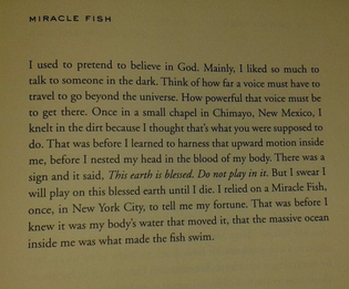 """Ada Limón, """"Miracle Fish"""" from Bright Dead Things"""