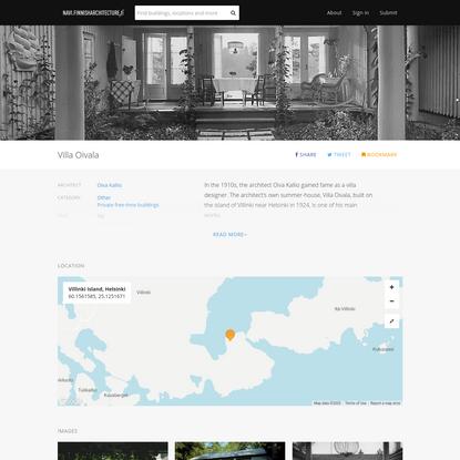 Villa Oivala · Finnish Architecture Navigator
