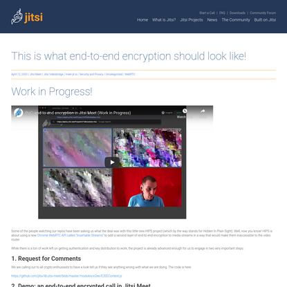 This is what end-to-end encryption should look like! - Jitsi