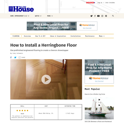 How to Install a Herringbone Floor