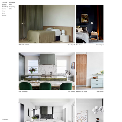 Residential | Fiona Lynch interior design office Melbourne