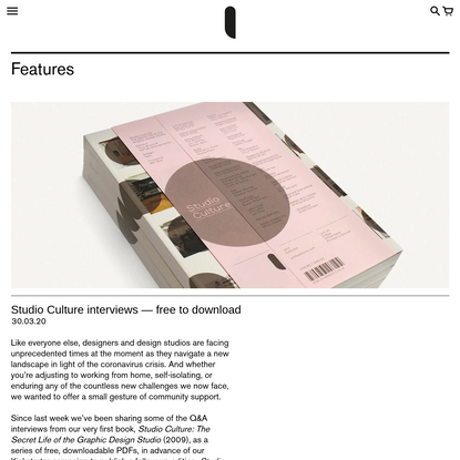 Studio Culture interviews - free to download