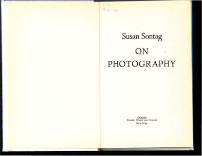Sontag, Susan - On Photography (Full Book)