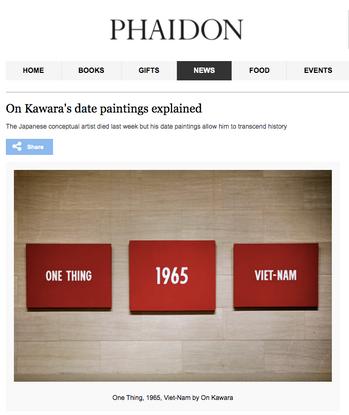 On Kawara's date paintings explained | Art | Agenda | Phaidon