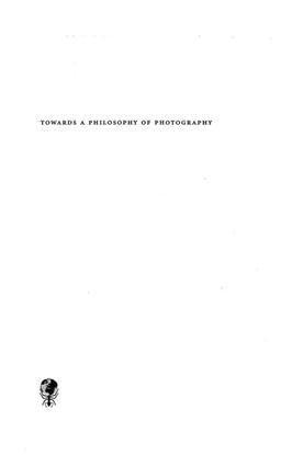 Flusser, Vilem - Towards a Philosophy of Photography