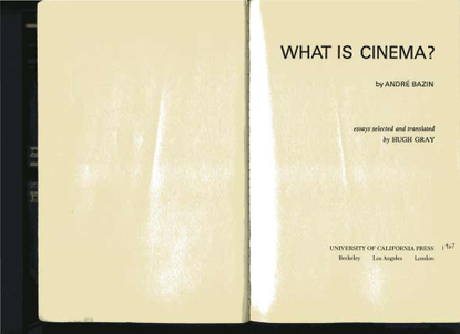 Bazin, Andre - The Ontology of the Photographic Image