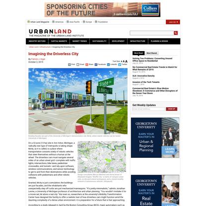 Imagining the Driverless City - Urban Land Magazine
