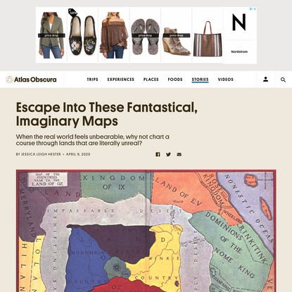 Escape Into These Fantastical, Imaginary Maps
