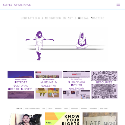 Six Feet of Distance | Meditations & Resources on Art and Social Practice