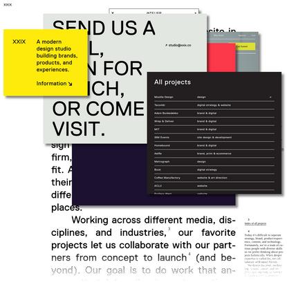 XXIX: Design Studio