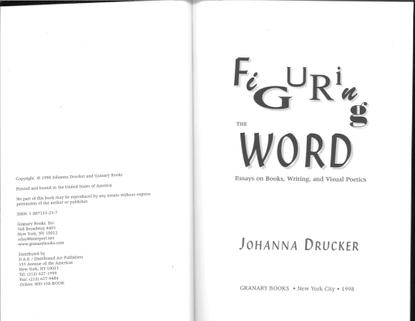 Johanna Drucker, Figuring the Word