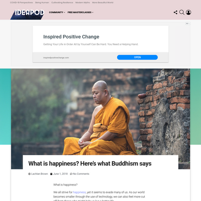4 crucial factors of happiness (according to Buddhism)