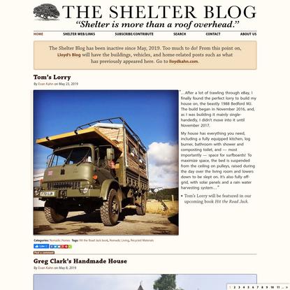 The Shelter Blog