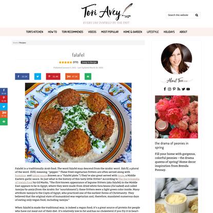 Falafel - Recipe for Falafel the Traditional Way - Tori Avey