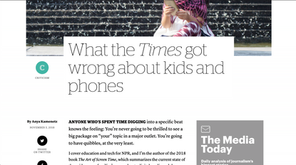 What the Times got wrong about kids and phones