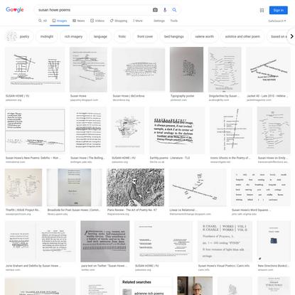 susan howe poems - Google Search