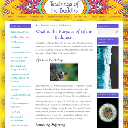 What is the Purpose of Life in Buddhism   Teachings of the Buddha