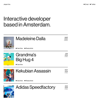 Jesper Vos   Interactive Developer