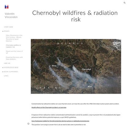 Valentin Vincendon - Chernobyl wildfires & radiation risk