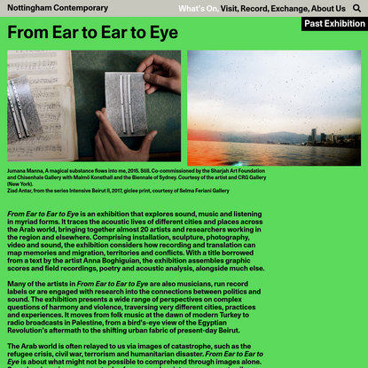 From Ear to Ear to Eye