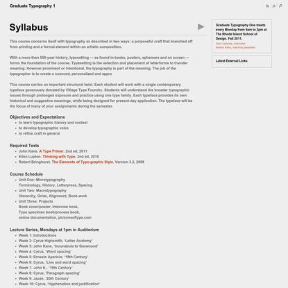 RISD, John Caserta, Graduate Typography 1