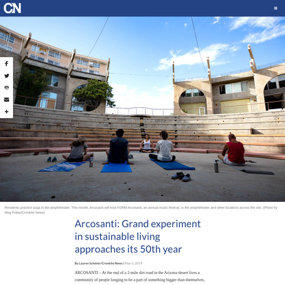 Arcosanti: The experiment lives on as urban lab approaches 50th year