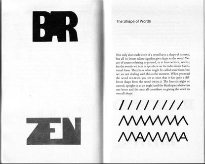 Bruno Munari –The Shape of Words