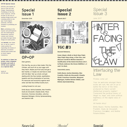 XPUB Special Issues